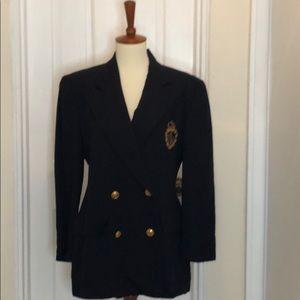 Lauren Ralph Lauren Navy Crest Blazer